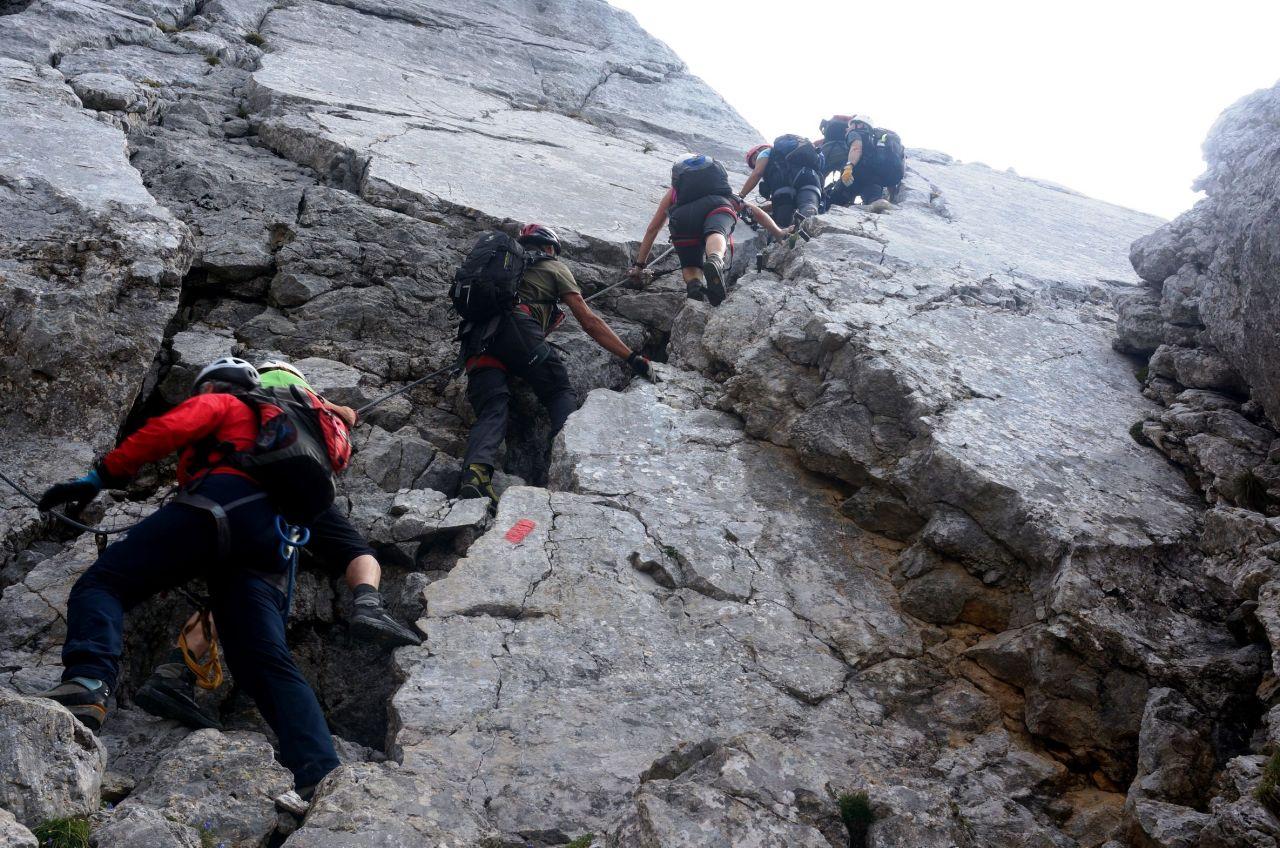 Klettersteig Wilder Kaiser : Wilder kaiser klettersteige alpenverein