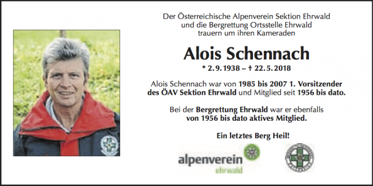 In Gedenken an Alois Schennach