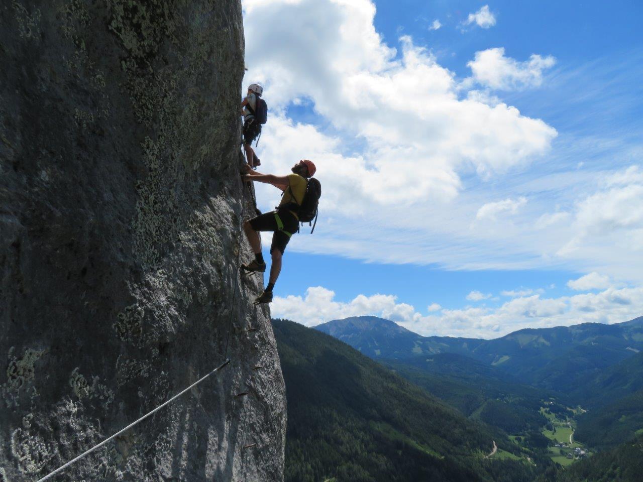 Klettersteig Himmelsleiter : Der klettersteig leiteregg k u bergwelt