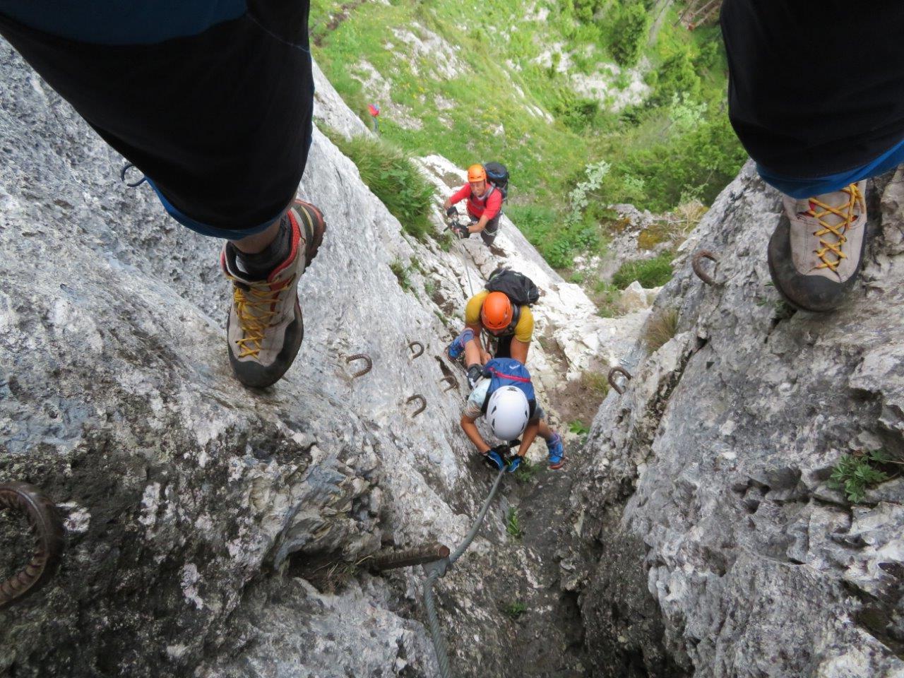 Klettersteig Himmelsleiter : Der brunnistöckli klettersteig b bei engelberg bergwelten