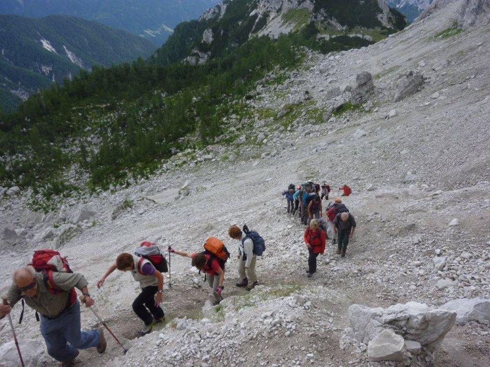 Klettersteig Julische Alpen : Triglav über den klettersteig bamberger weg c verticalextreme