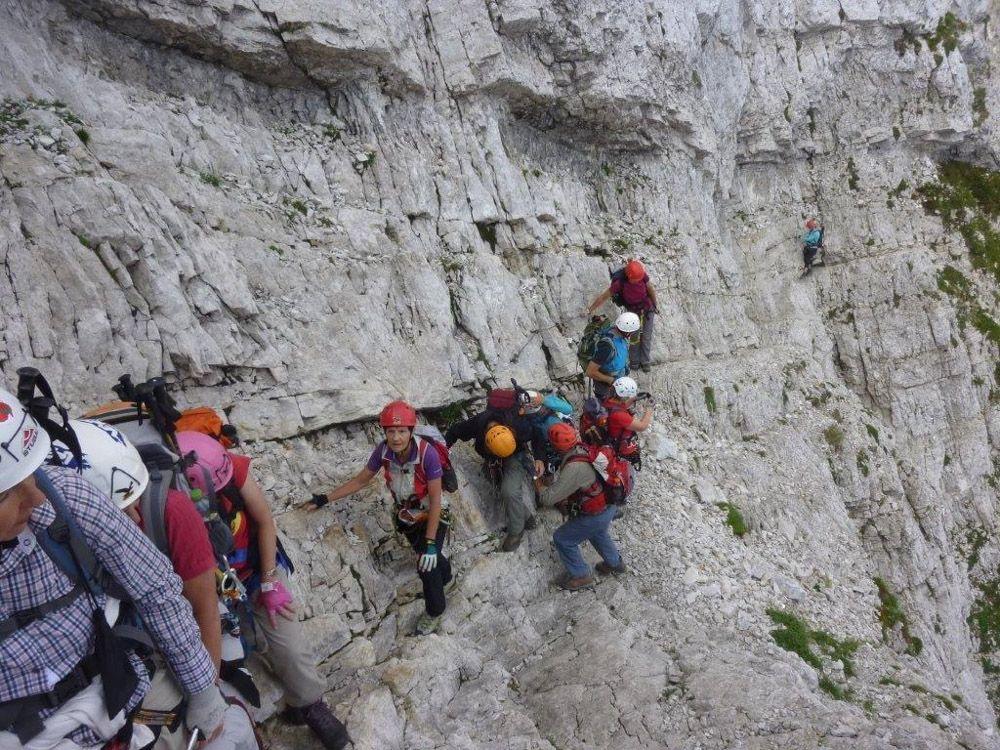 Klettersteig Julische Alpen : Mojstrovka klettersteig u julische alpen alpenverein