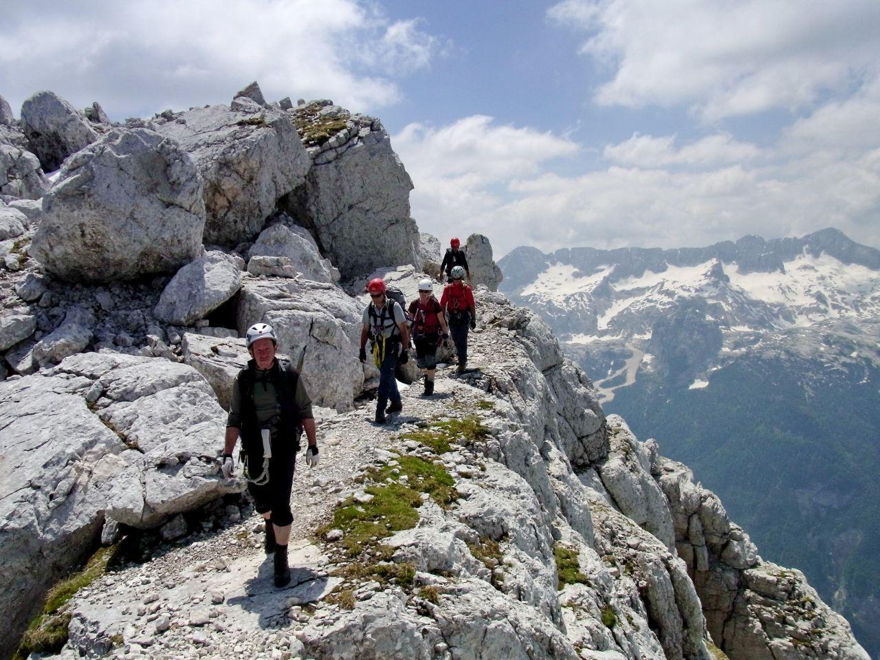 Klettersteig Julische Alpen : Klettersteige mangart in den julischen alpen km bergwelten