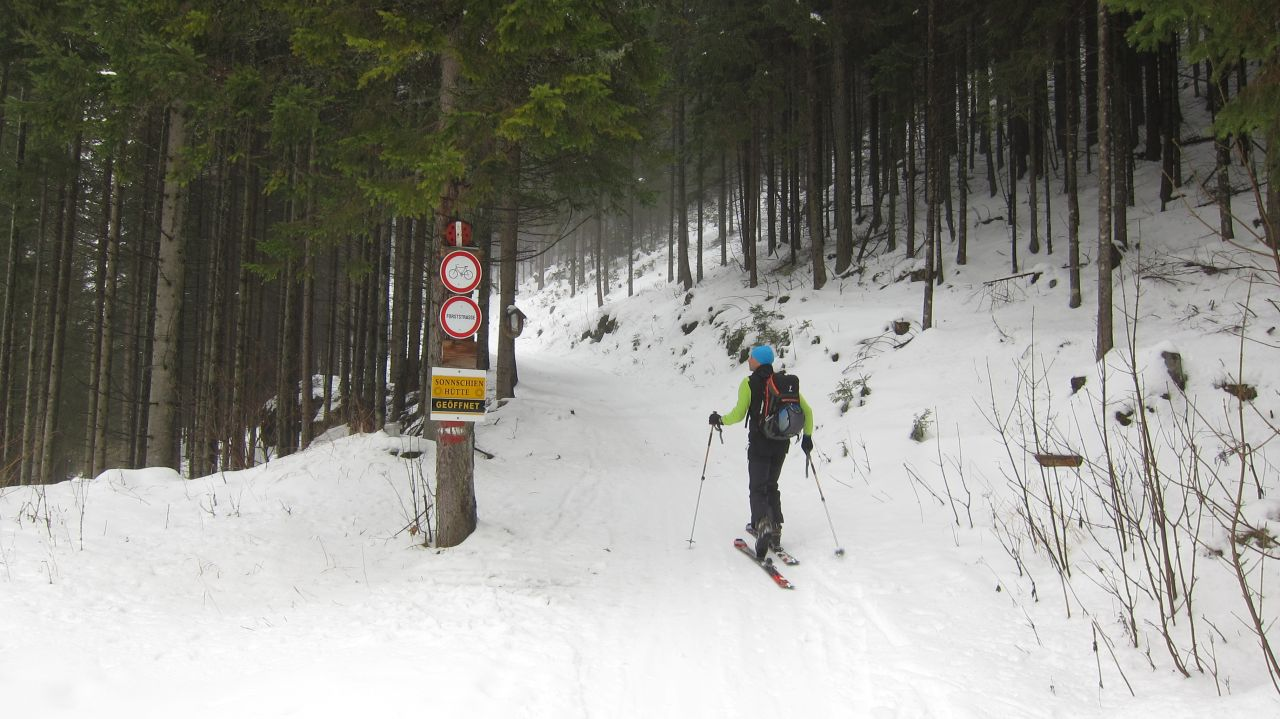 8 februar schitour auf den ebenstein Österreichischer alpenverein
