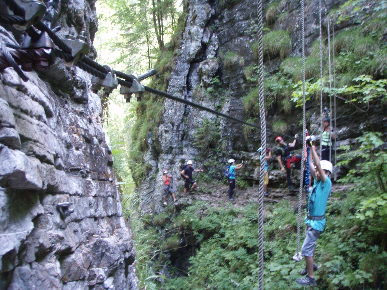Klettersteig Postalmklamm : 2015 06 14 klettersteig postalmklamm alpenverein