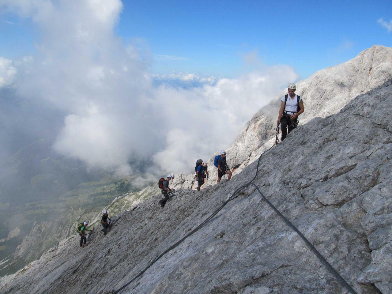 Klettersteig Hochkönig : 29.juli 2016 königsjodler klettersteig am hochkönig alpenverein