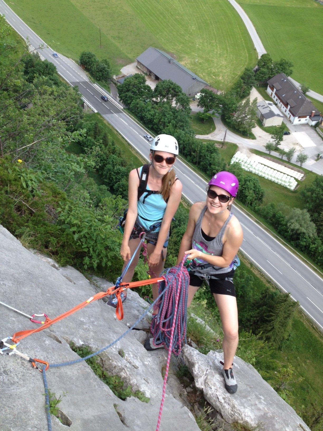 Klettern im Klettergarten Pürgg Alpenverein