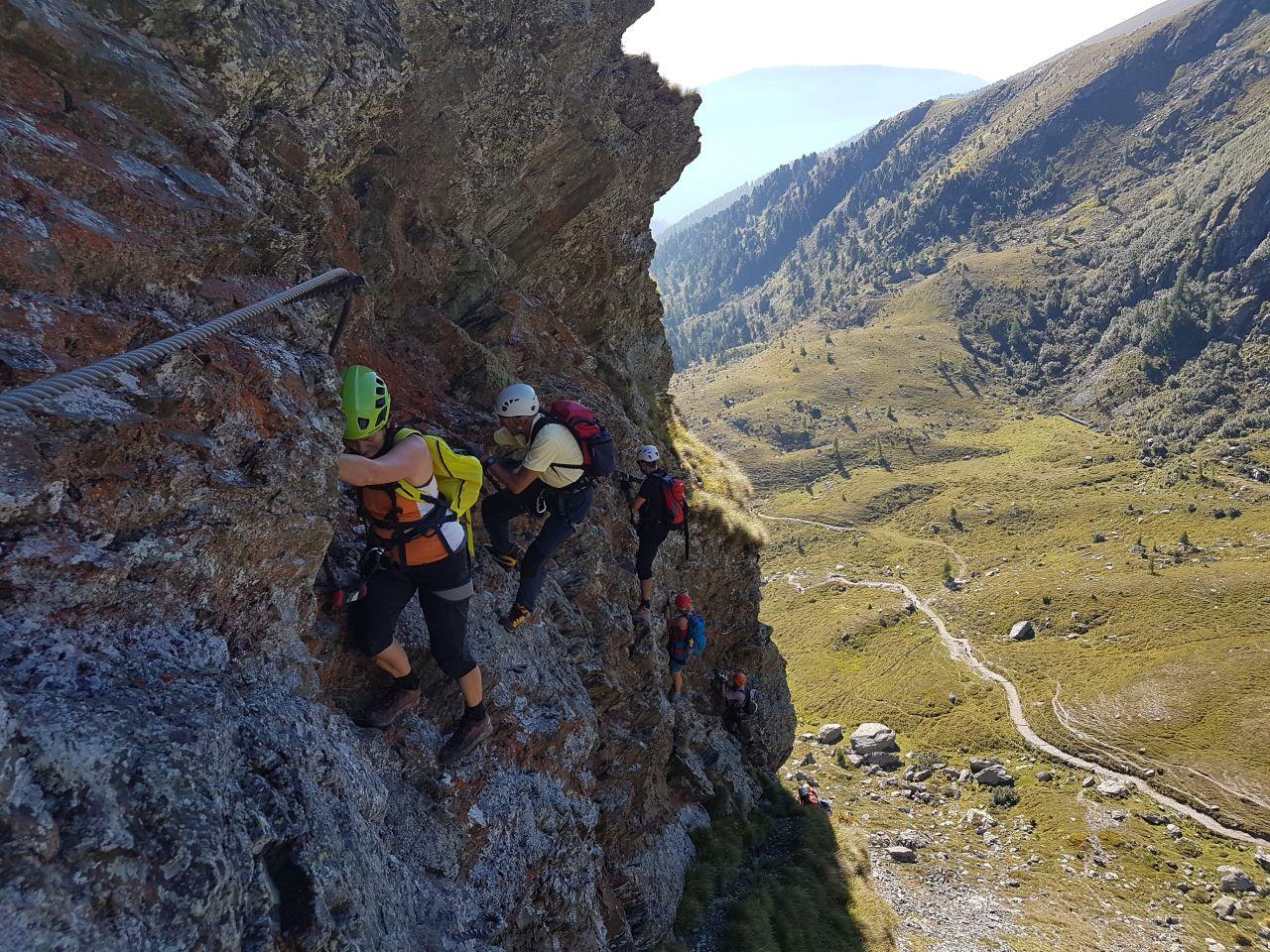 Klettersteig Falkert : Falken klettersteig auf den falkert in kärnten alpenverein