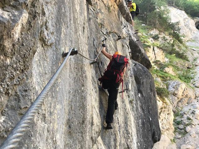 Klettersteig Lienz : Galitzenklamm klettersteig am  alpenverein