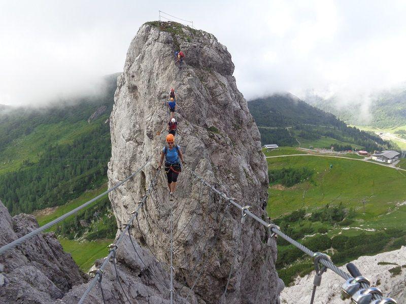 Klettersteig Däumling : Däumling klettersteig am 2.8.2014 alpenverein