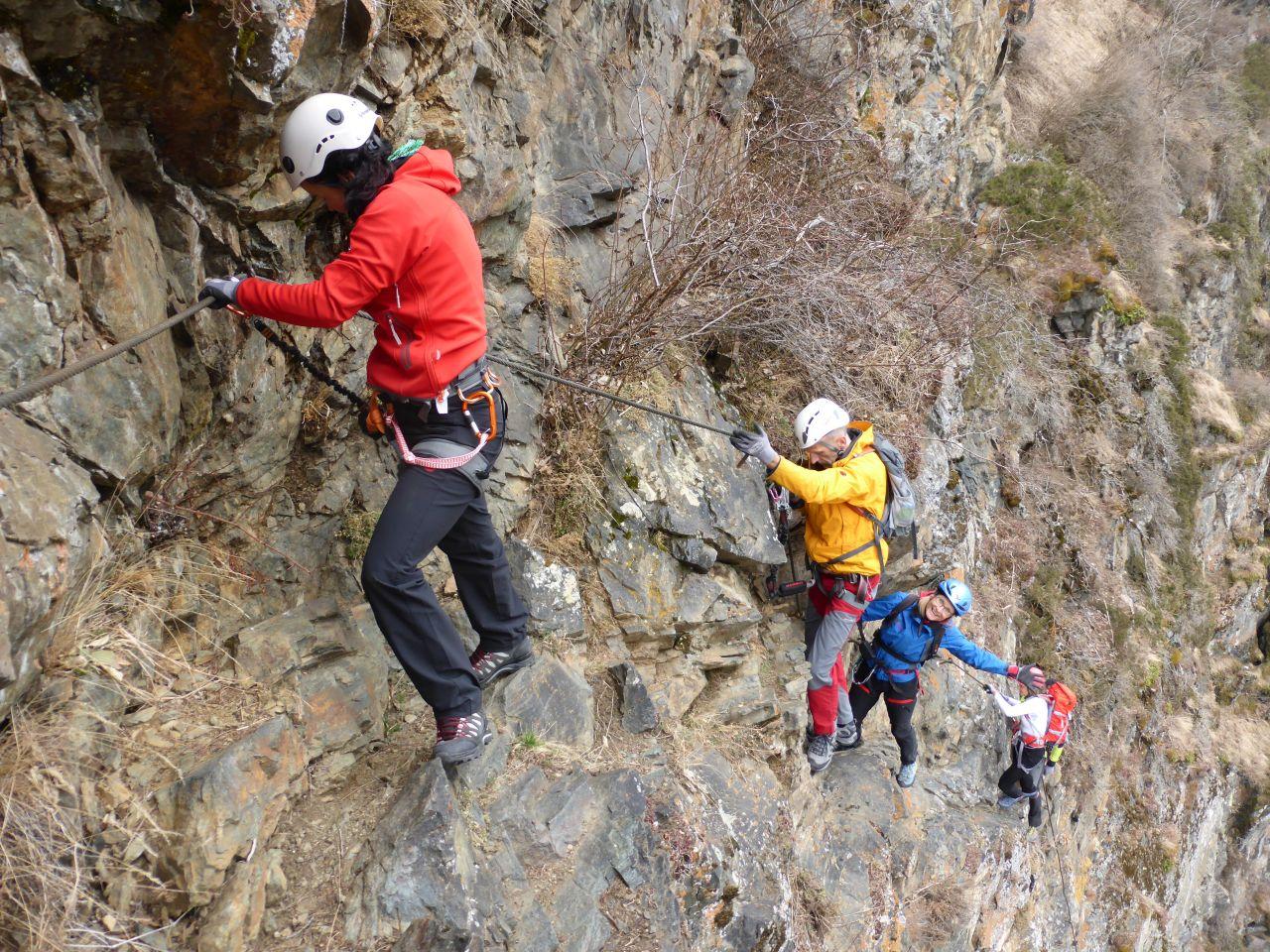 Klettersteig Längenfeld : Schiestl klettersteig in längenfeld 21.3.15 alpenverein
