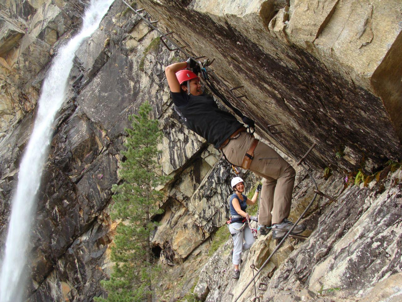 Klettersteig Lehner Wasserfall : Klettersteig lehner wasserfall 25.4. und 4.5.2014 alpenverein