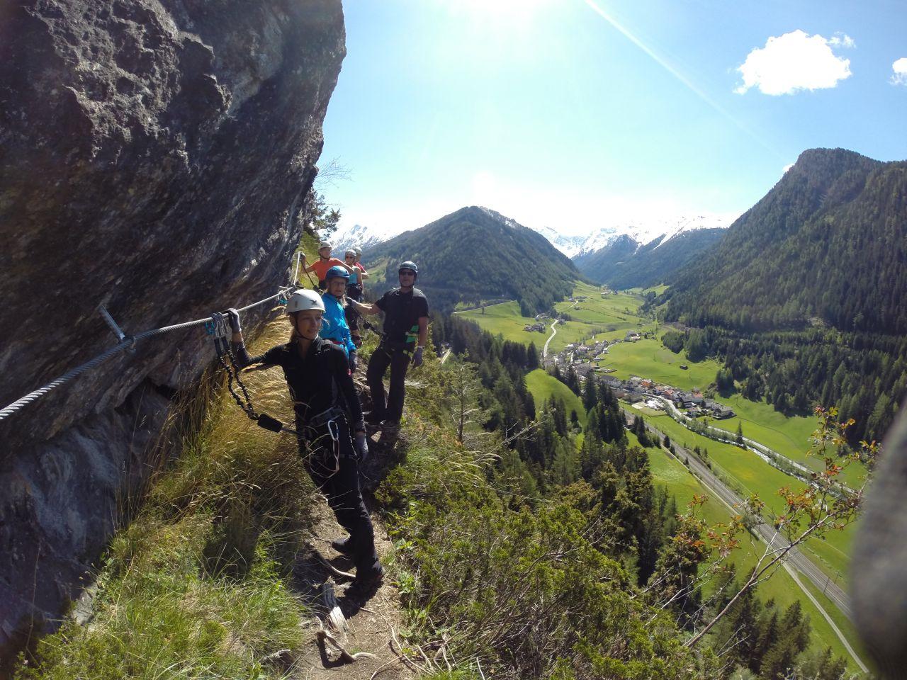 St Jodok Klettersteig : Peter kofler klettersteig in der stafflacher wand bei st jodok im