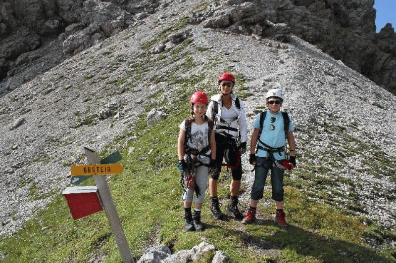 Klettersteig Wankspitze : Wank klettersteig mit kindern alpenverein