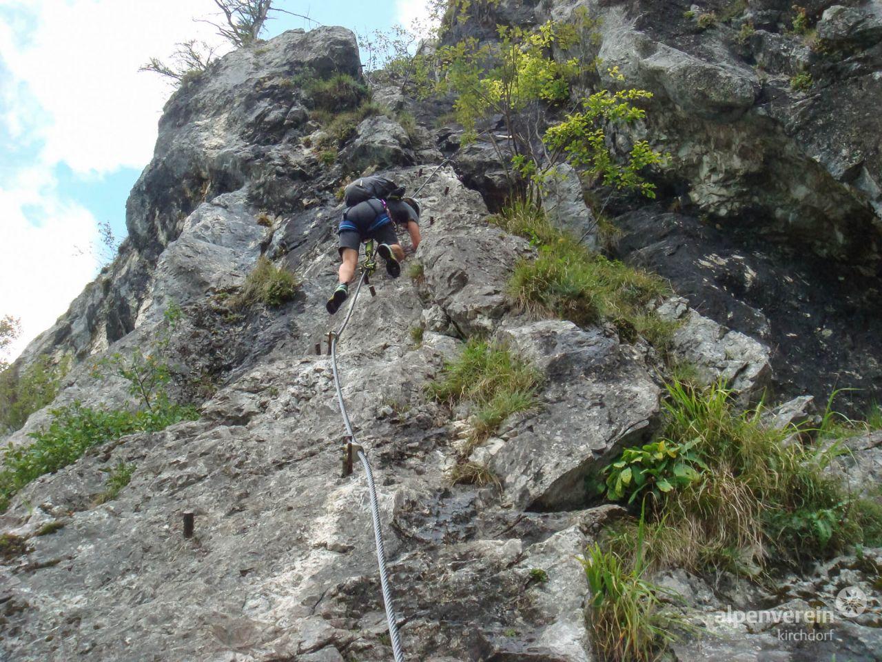 Klettersteig Mahdlgupf : Attersee klettersteig u mahdlgupf Öav ortsgruppe eggelsberg