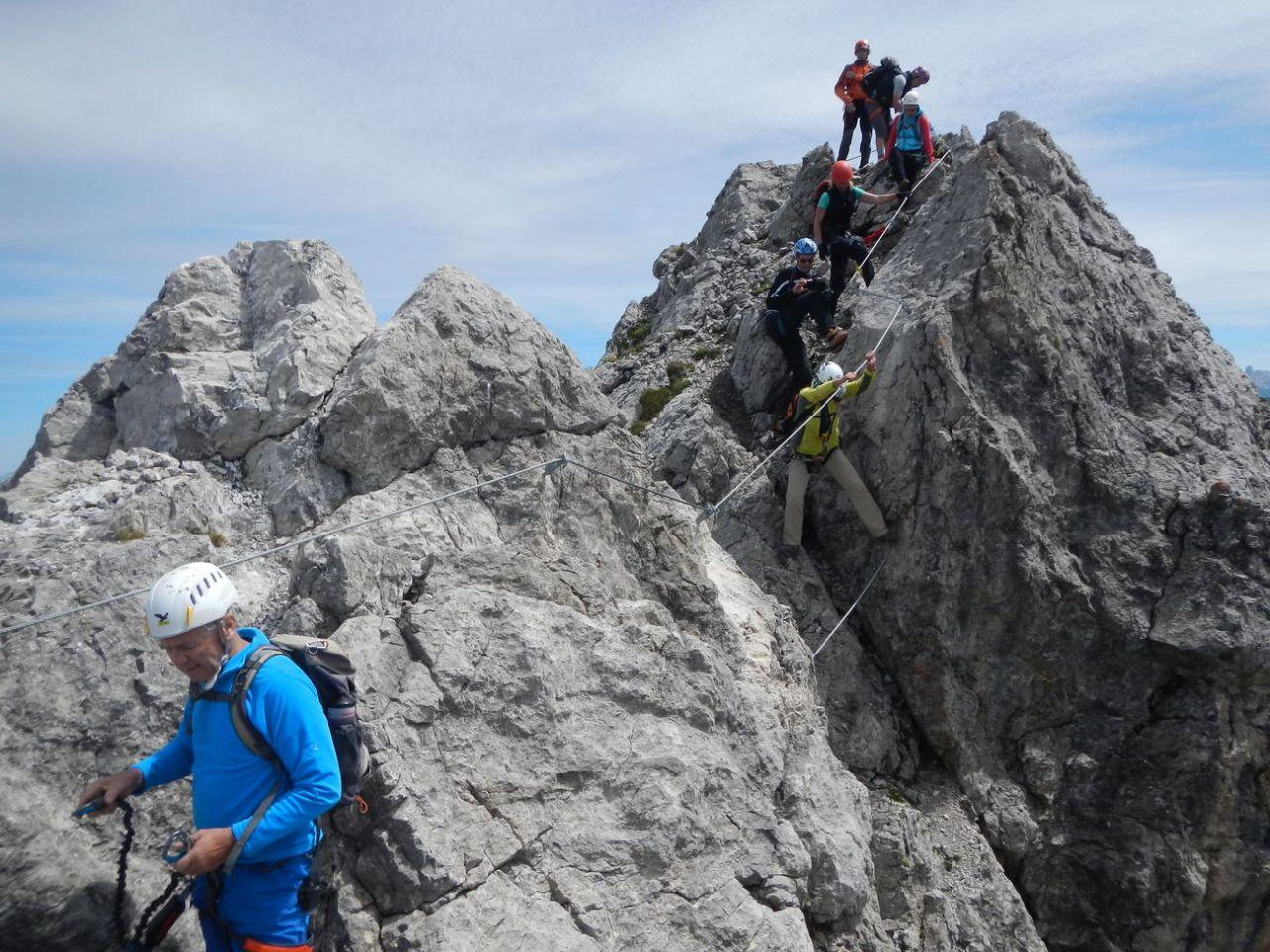 Klettersteig Kleinwalsertal : Klettersteig karhorn und wanderung warther horn alpenverein