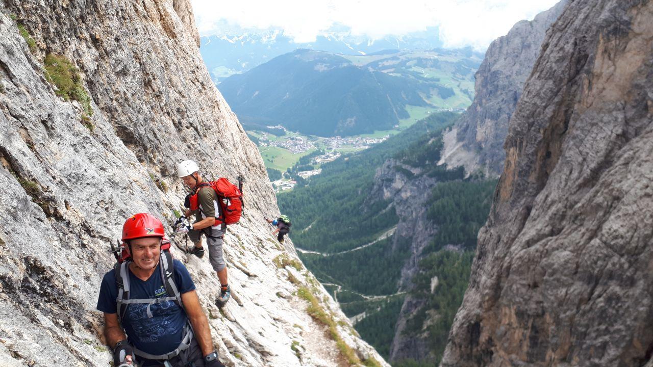 Klettersteig Piz Boe : Piscadu m und piz boe alpenverein