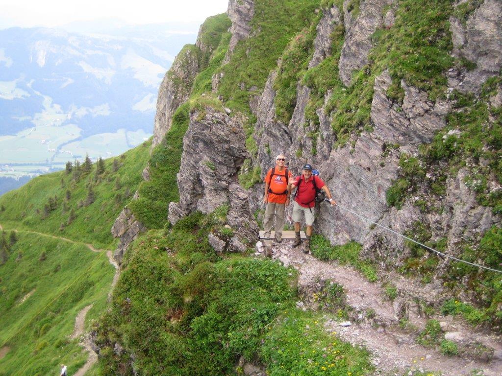 Klettersteig Kitzbüheler Horn : Klettersteig am kitzbüheler horn in st johann tirol gasthof