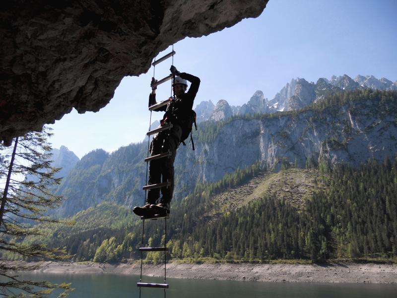Klettersteig Gosausee : Klettersteig einsteigertour in gosau 07. mai 2011 alpenverein