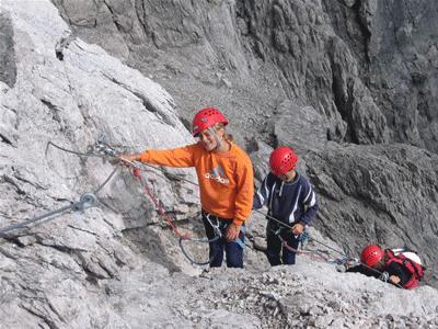 Klettersteig Kinder : Klettersteig skigebiet kronplatz