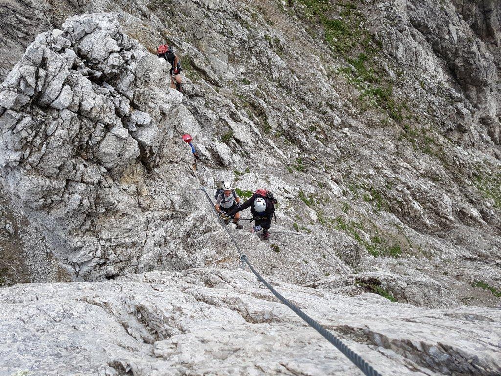 Klettersteig Wankspitze : Wankspitze klettersteig b c mieminger berge alpenverein