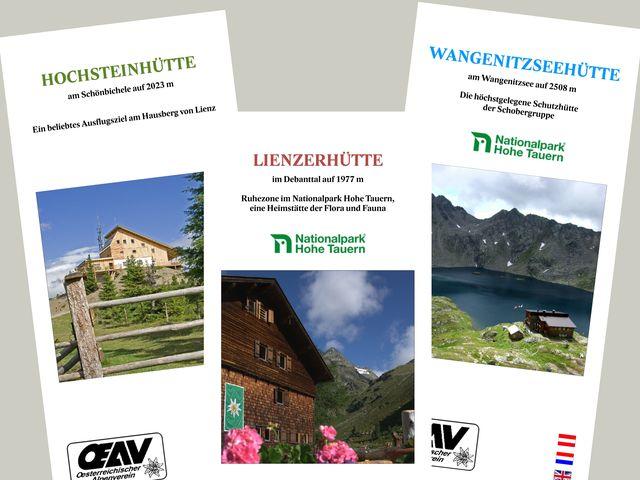 Broschüre von der Hütte