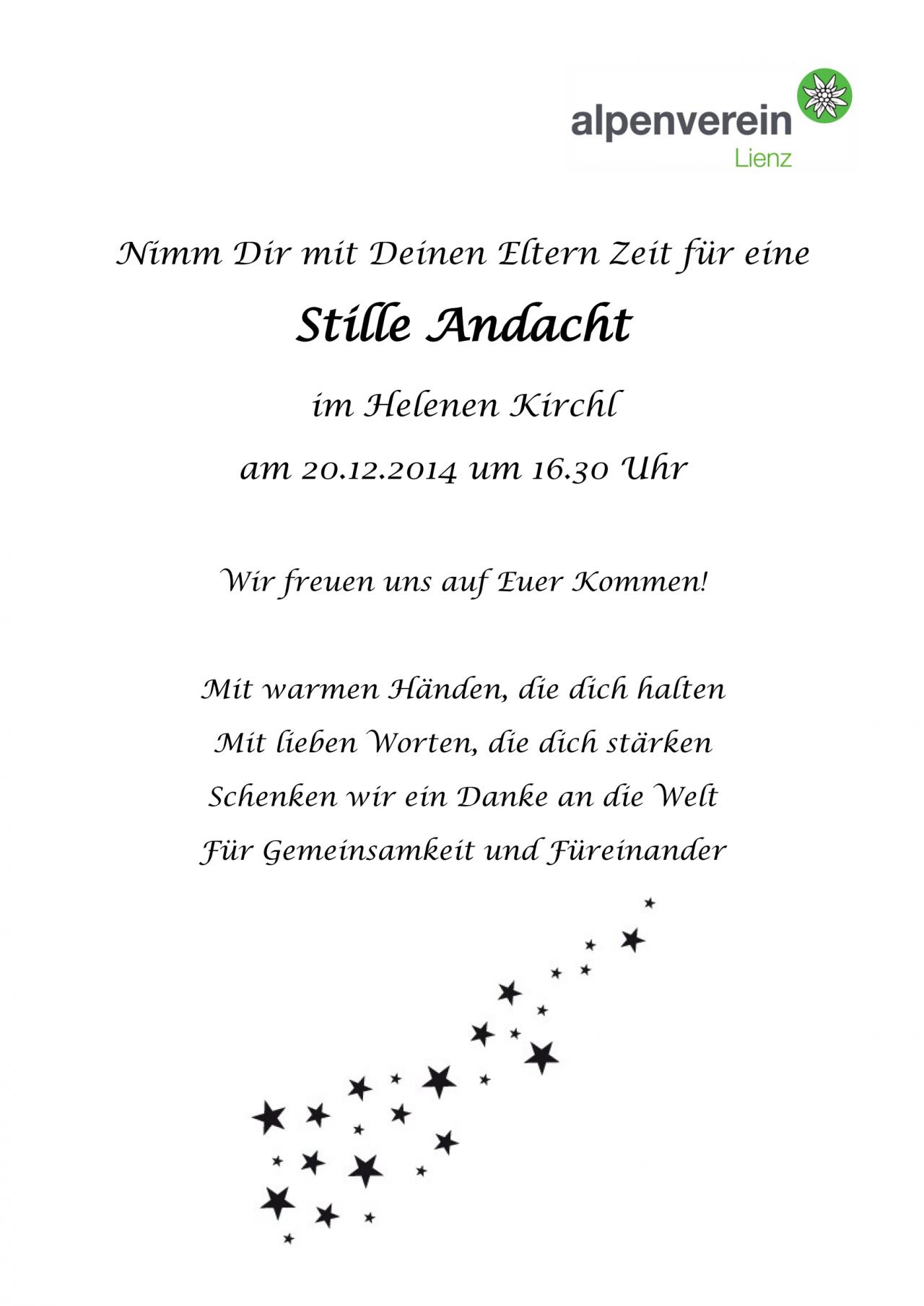 Einladung Zur Weihnachtsfeier.Einladung Weihnachtsfeier Alpenverein