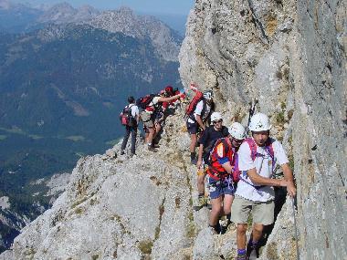 Klettersteig Buchstein : Gr buchstein leichter klettersteig alpenverein