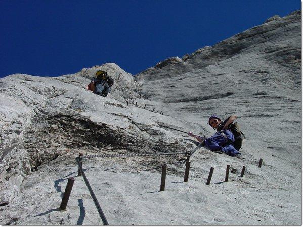 Klettersteig Johann : Alpintouren klettersteig tour hoher dachstein m über