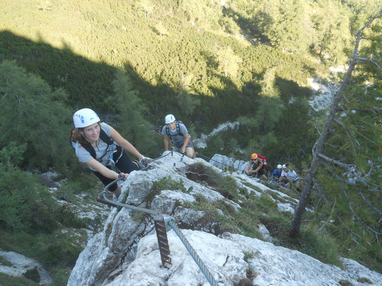 Klettersteig Wolfgangsee : Klettersteig auf die katrin mit jugendlichen alpenverein
