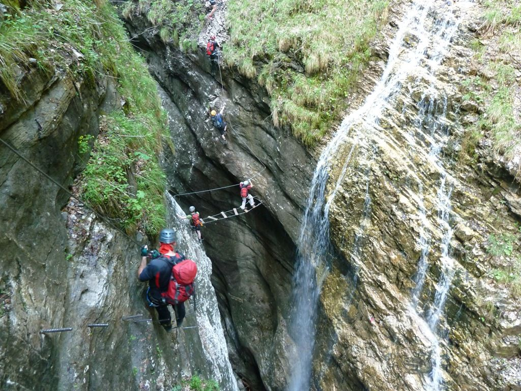 Klettersteig Postalmklamm : Postalmklamm klettersteig 27.05 alpenverein