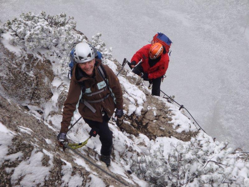 Klettersteig Katrin : 2014.05.04 katrin klettersteig alpenverein