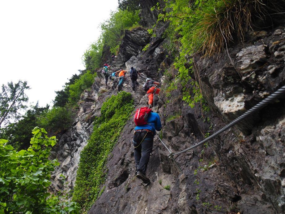 Klettersteig Mayrhofen : Astegg klettersteig bergsteigen