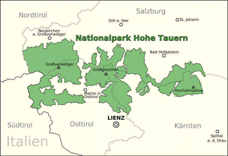 Karte Nationalpark Hohe Tauern