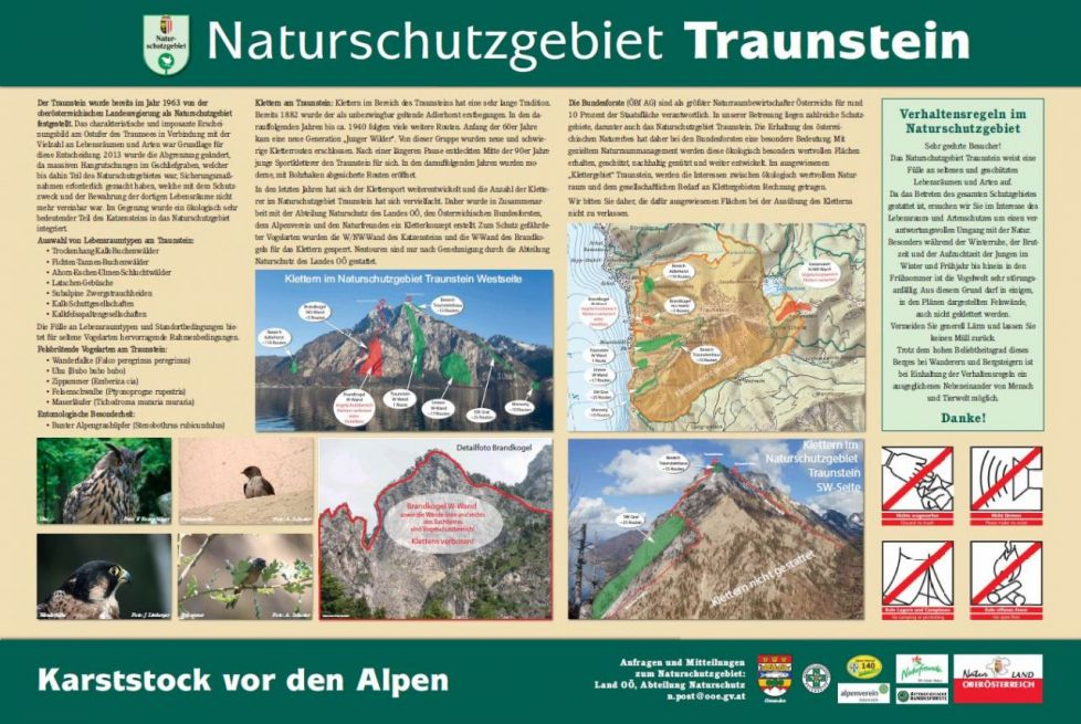 Klettern am Traunstein: Alle Infos zum Download (PDF, 1.6 MB)