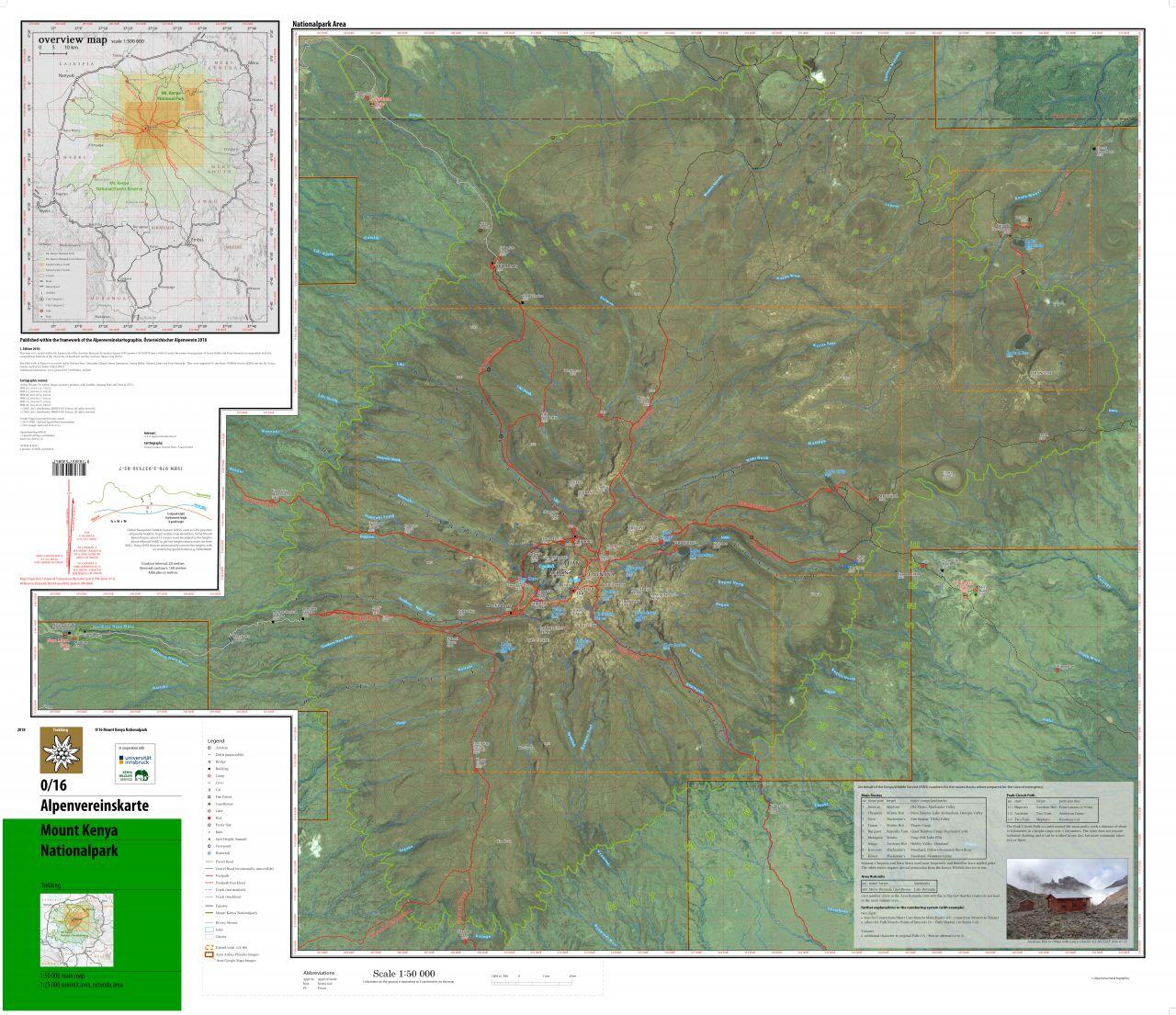 Mount Kenia Karte.Alpenvereinskarte Mount Kenya Alpenverein