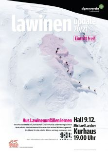 "Plakat ""Lawinen Update"" 2020/2021 - Hall in Tirol"