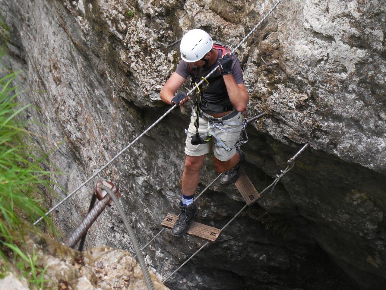 Klettersteig Postalmklamm : Klettersteig postalmklamm alpenverein