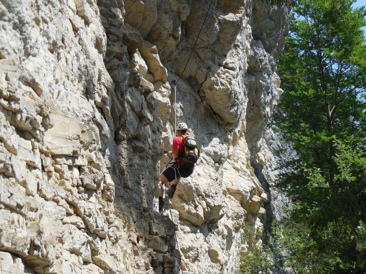 Klettersteig Postalmklamm : 12.7.2015 klettersteig postalmklamm alpenverein
