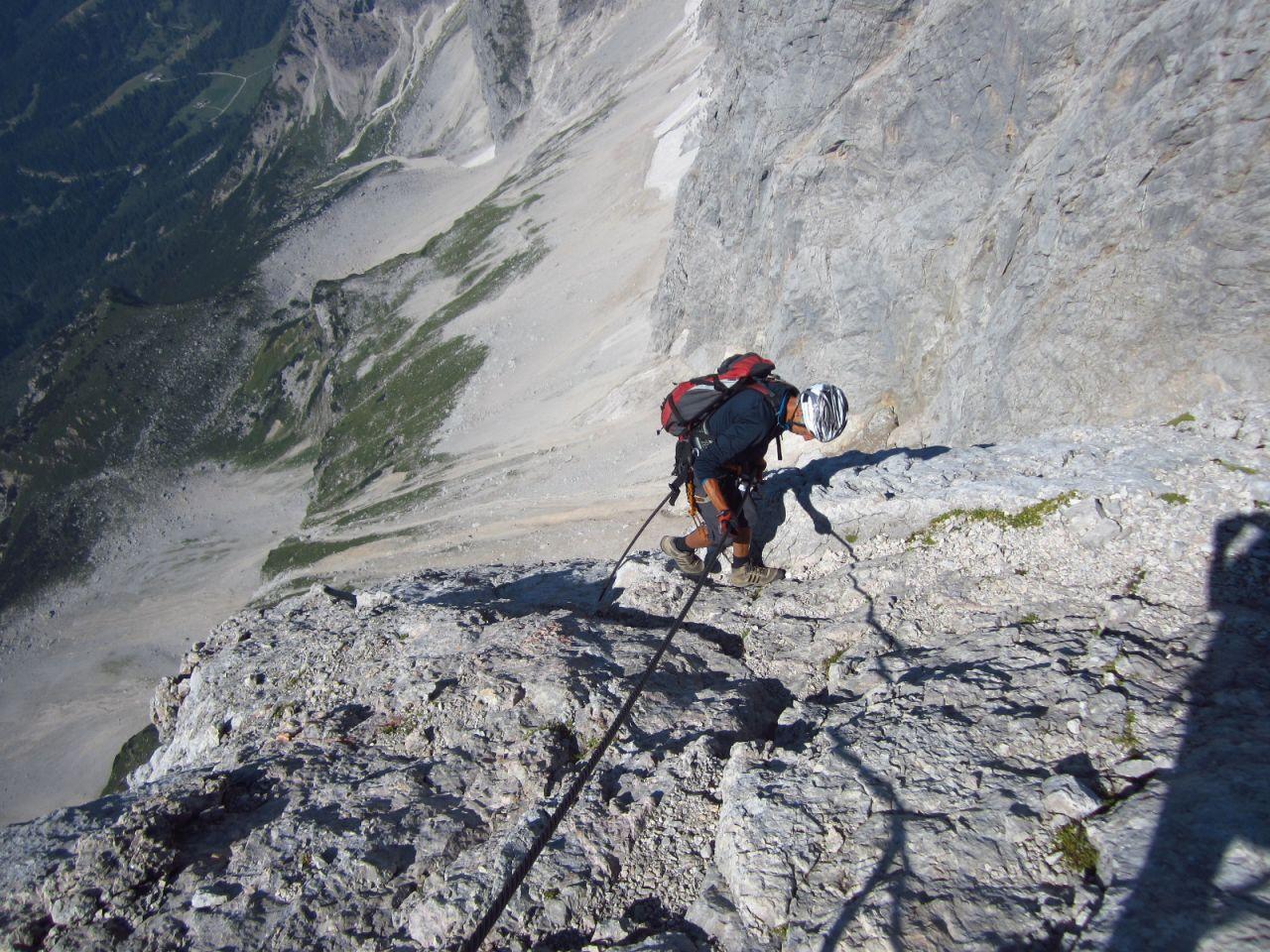 Klettersteig Johann Dachstein : Anna erzherzog johann dachstein: drei klettersteige führen auf