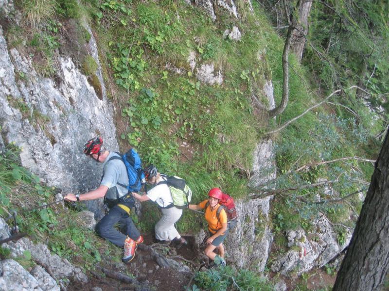 20070825 wanderung mit klettersteig wasserfallweg  u00d6sterreichischer alpenverein