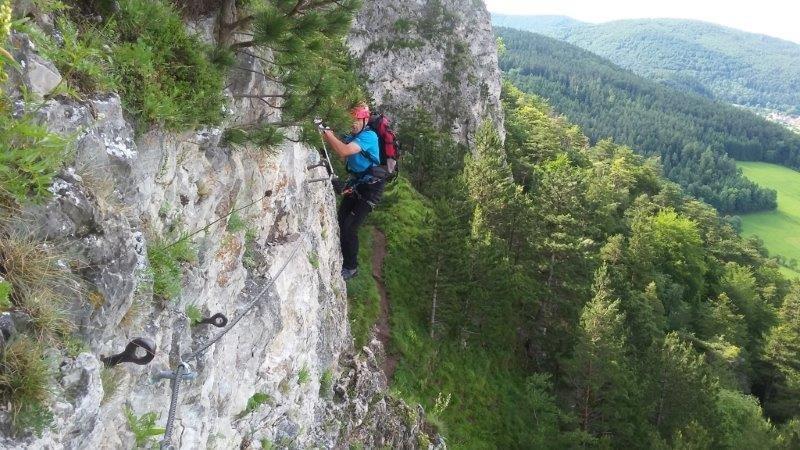 Klettersteig Türkensturz : Reichenau klettersteige