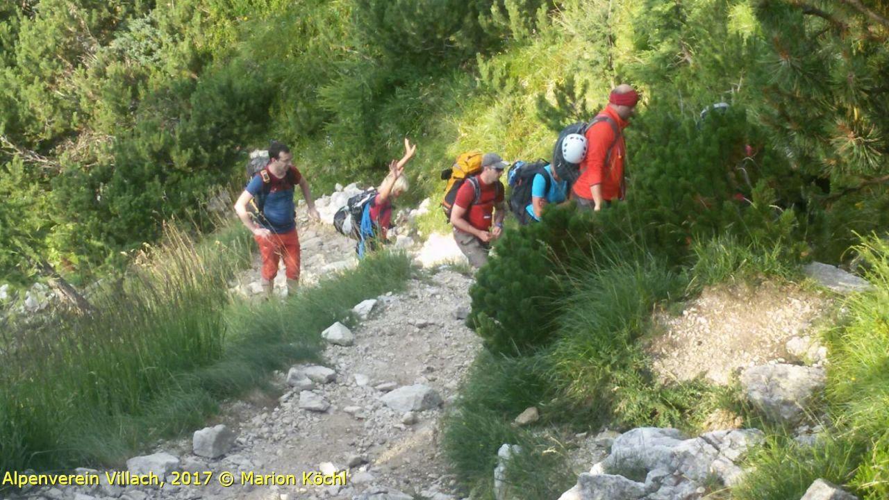 Klettersteig Villach : Klettersteigen am abend alpenverein