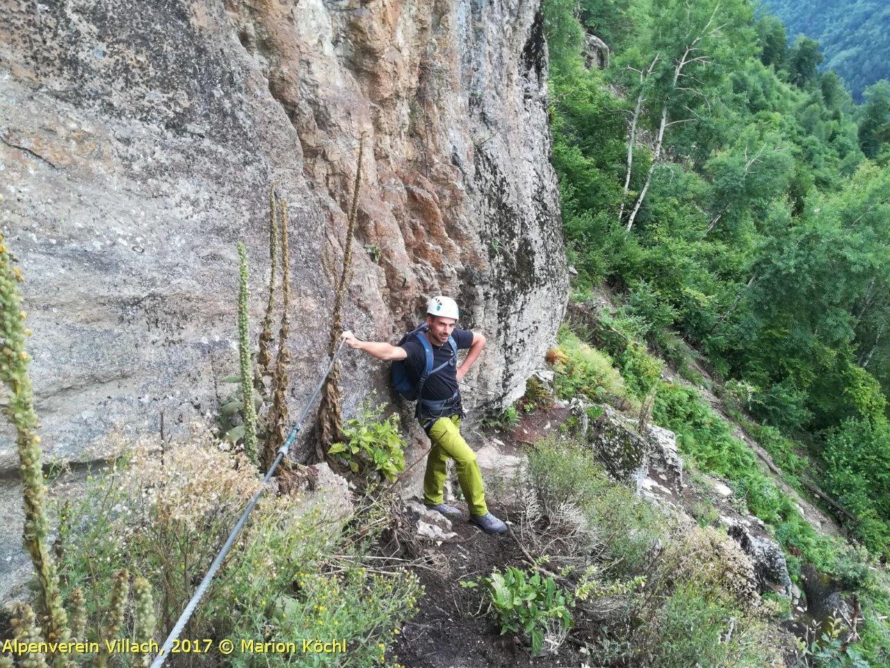 Klettersteig Villach : Oberkärntner jäger klettersteig döbriach alpenverein