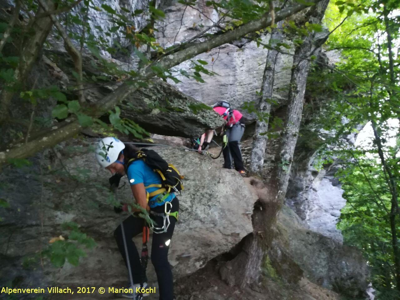 Klettersteig Villach : Peterlewand klettersteig abend alpenverein