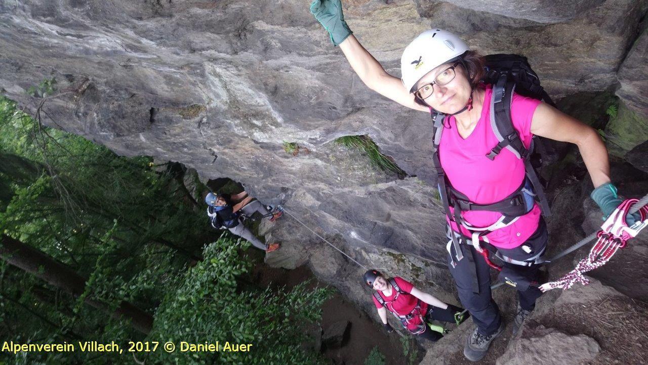 Klettersteig Villach : Klettersteig abend peterlewand alpenverein
