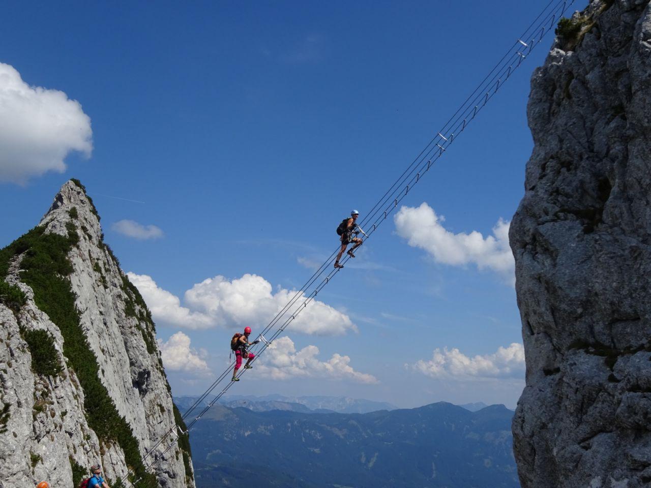 Klettersteig Intersport : Intersport klettersteig auf den großen donnerkogel m