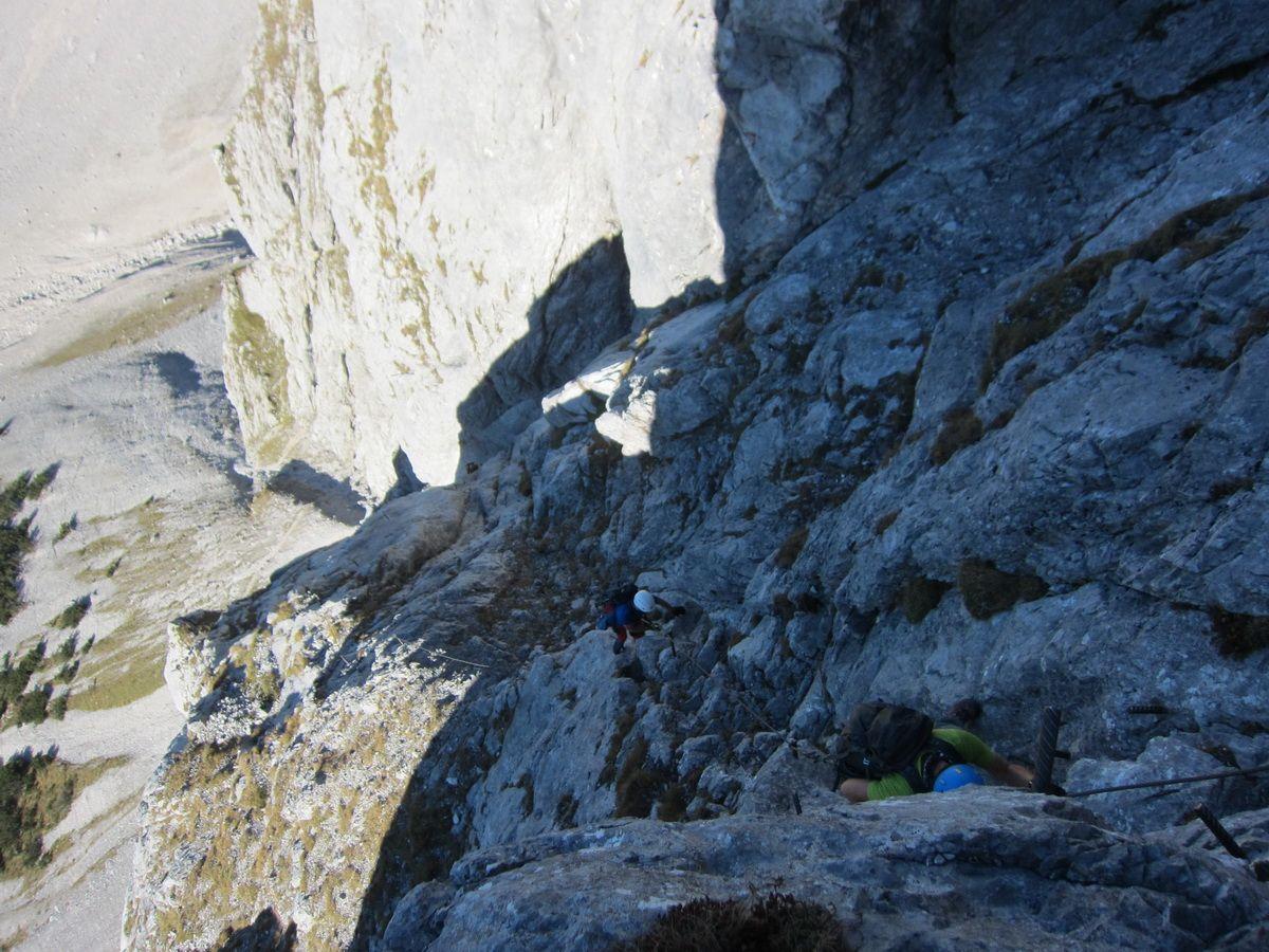Klettersteig Johann : Johann klettersteig und hoher dachstein mit reini in