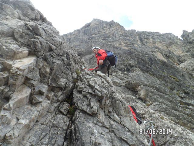 Klettersteig Lachenspitze : Klettersteig lachenspitze mit hans felizeter am 21.06.14 alpenverein