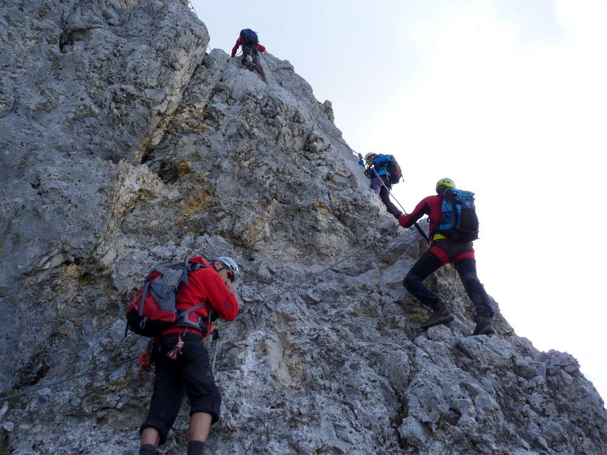 Klettersteig Köllenspitze : Klettersteig köllenspitze mit hans felizeter am juni